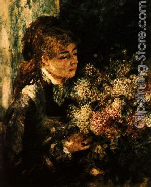 Woman with Lilacs