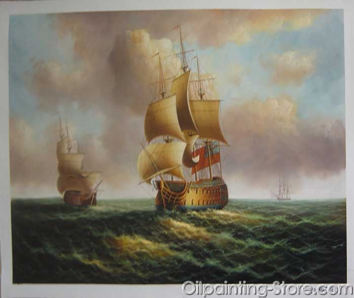 Professional Guaranteed House Painting Western Springs: Warship-stock-018_Warship_Stock Paintings_Oil Painting