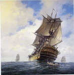 Warship paintings